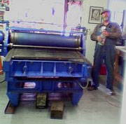 Big Blue ... The Wagner flatbed proof press